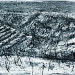 Paesaggio con nevicata